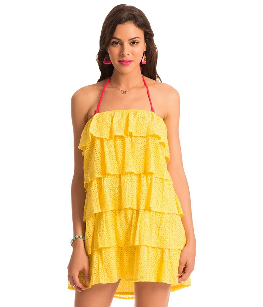 61079ba696 Buy Prettysecrets Yellow Beach Dresses Online at Best Prices in India -  Snapdeal
