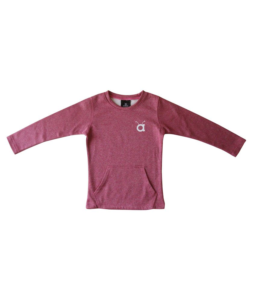 Anthill Crew Pink Sweatshirt for Girls