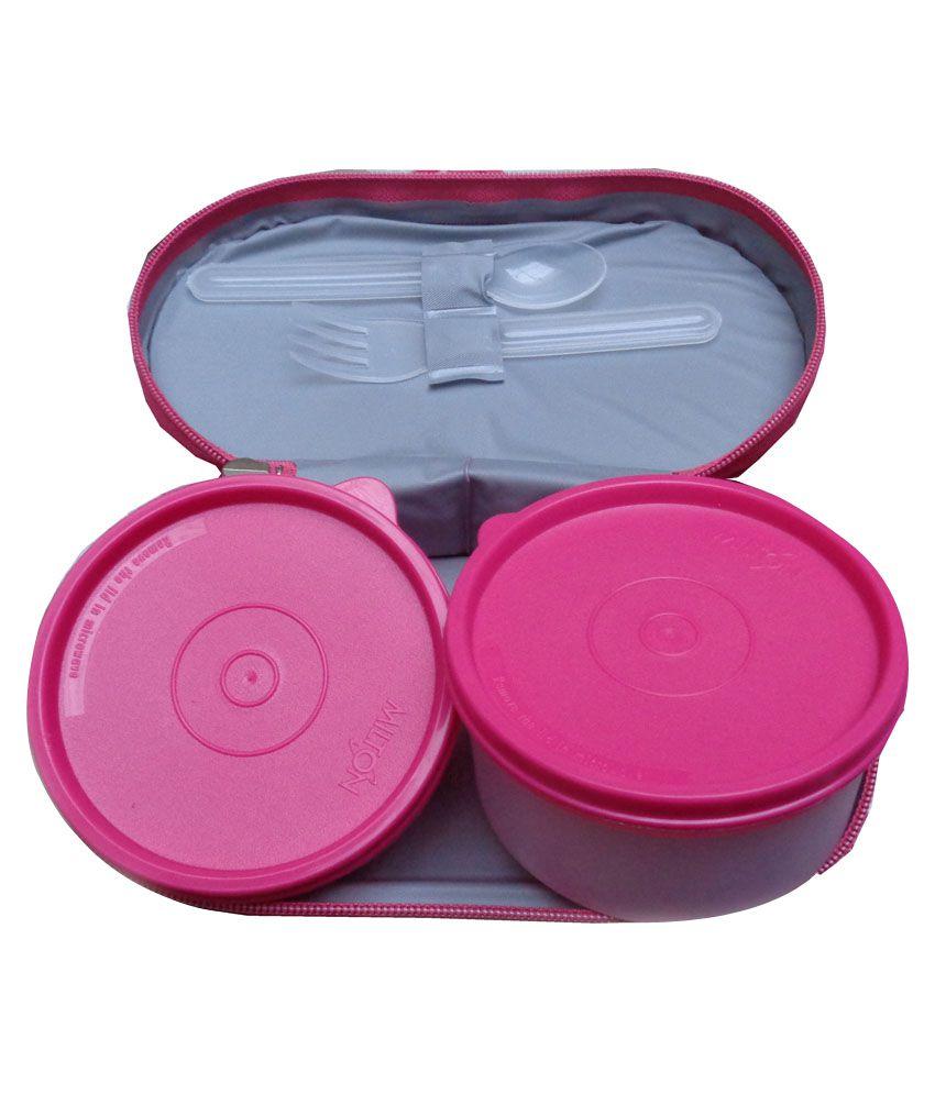 Milton Bon Bon Pink Lunch Box