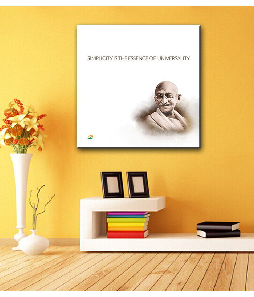 Tallenge Mahatma Gandhi Motivational Quotes Simplicity Is The Essence Of Universality Gallery Wrap Canvas Art Print