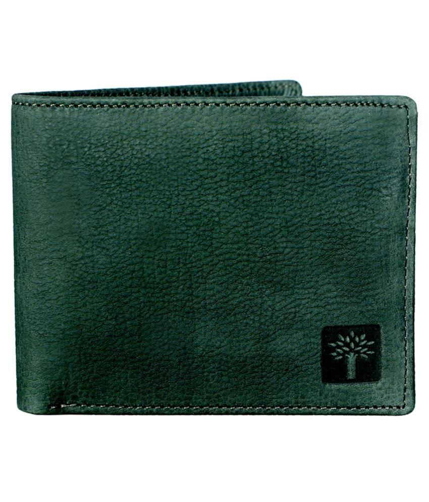 Woodland Green Leather Formal Wallet For Men Buy Online