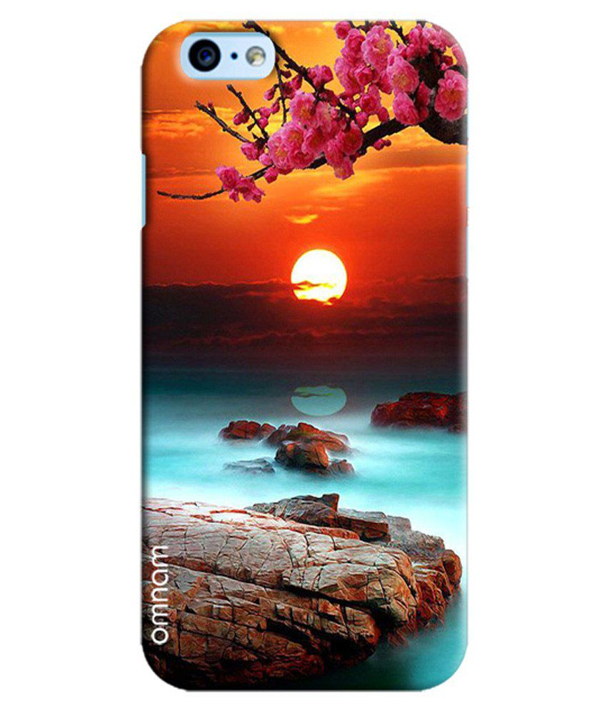 318be84be Omnam Beautiful Scenery With Sun And Flowers Back Cover Case For Apple  iPhone 6/6S-Multicolour - Printed Back Covers Online at Low Prices    Snapdeal India