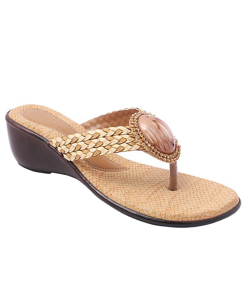 Pantof Beige Ethnic