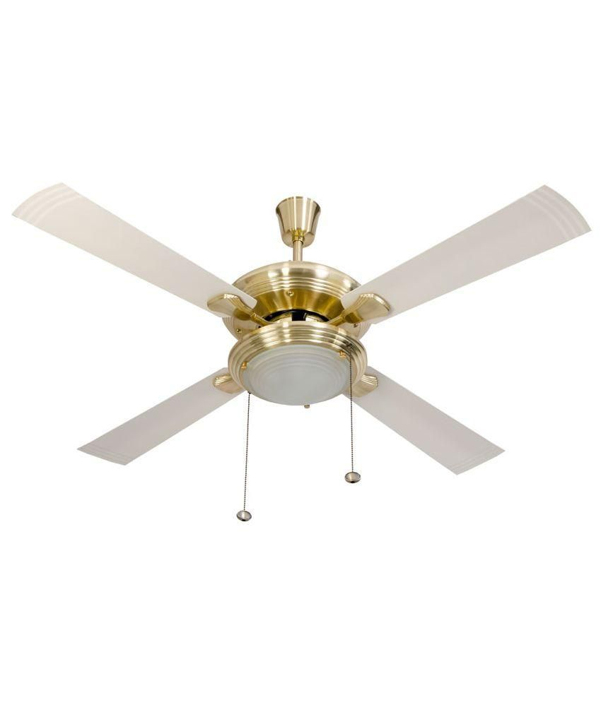 Usha 50 Ceiling Fan Gold Ivory Price In India Buy Usha