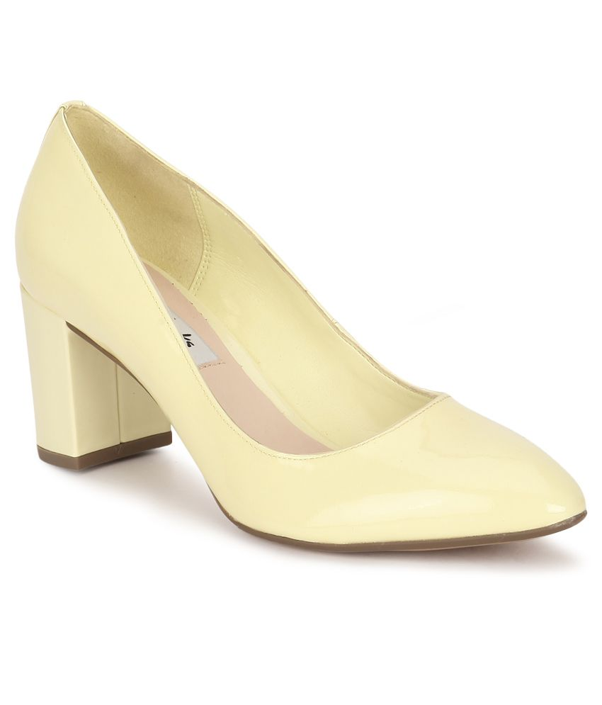 Clarks Yellow Block Heels