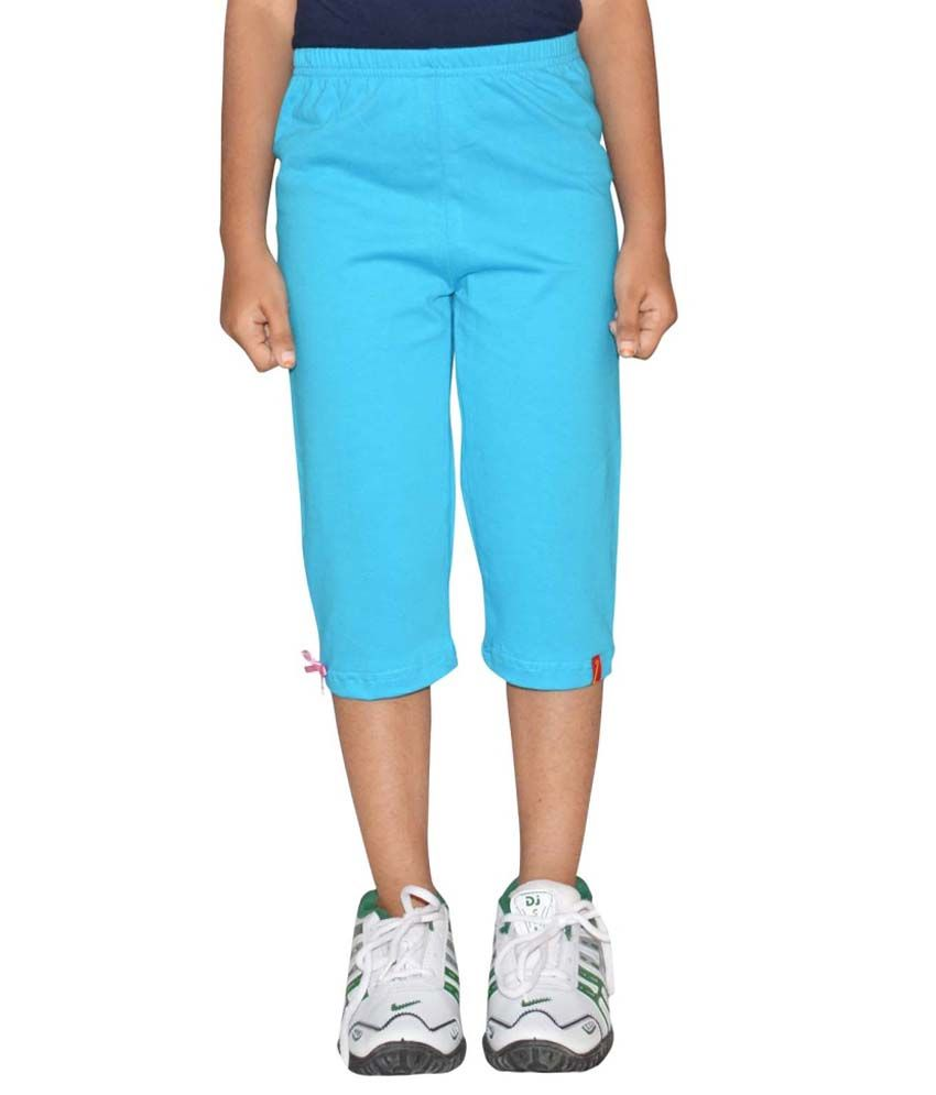 Clever Blue Cotton Capris