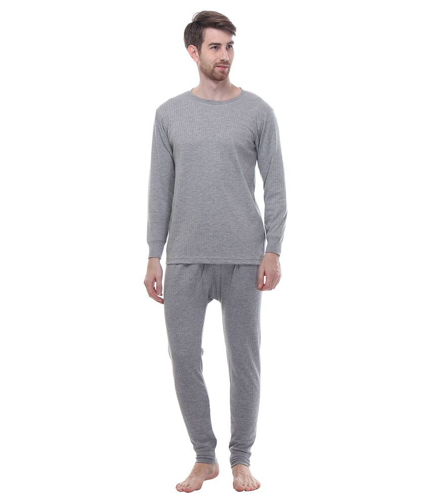 a2e8f1f86ae Tab91 Grey Thermal Wear Top   Bottom Set - Buy Tab91 Grey Thermal Wear Top    Bottom Set Online at Low Price in India - Snapdeal