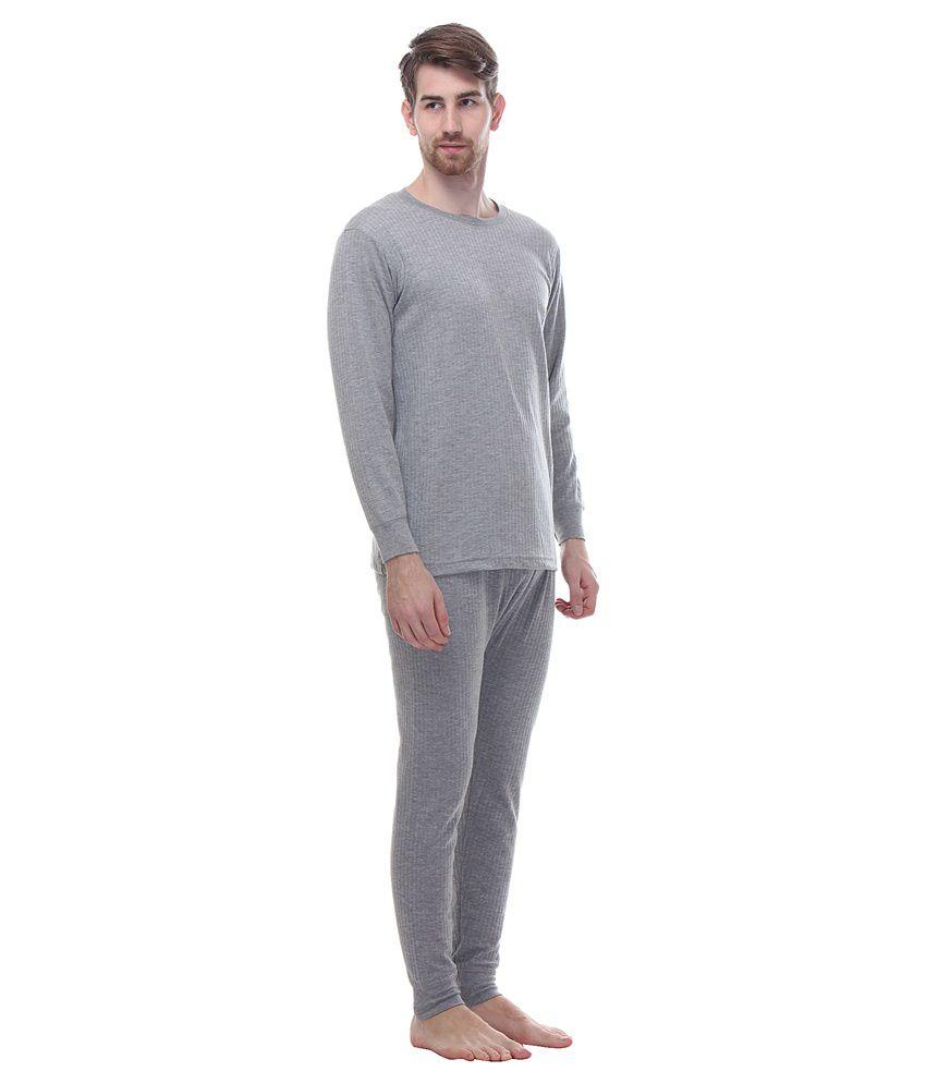 ee996b4c274 Tab91 Grey Thermal Wear Top   Bottom Set - Buy Tab91 Grey Thermal ...