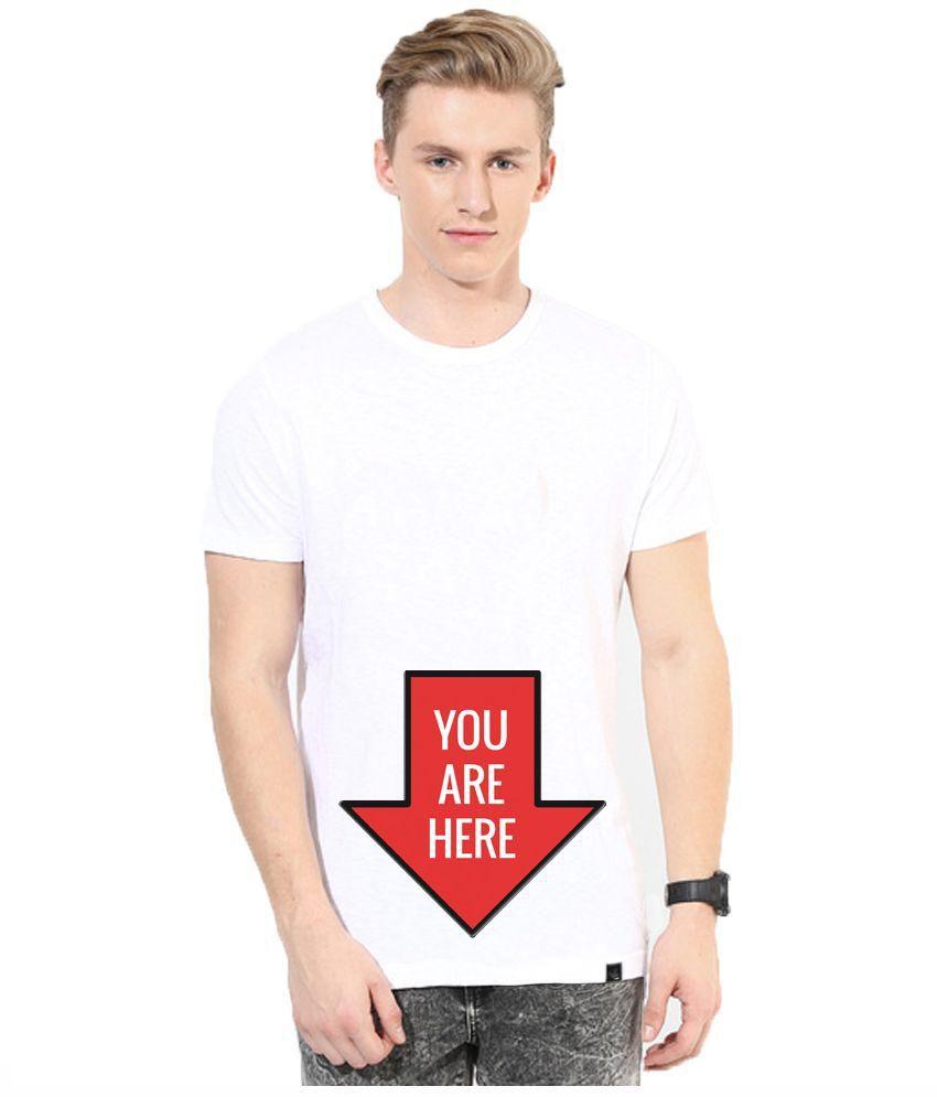 Andshand White Round Neck T-Shirt