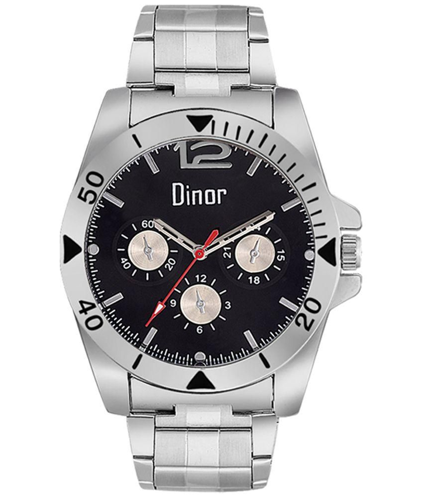 Dinor Silver Analog Watch