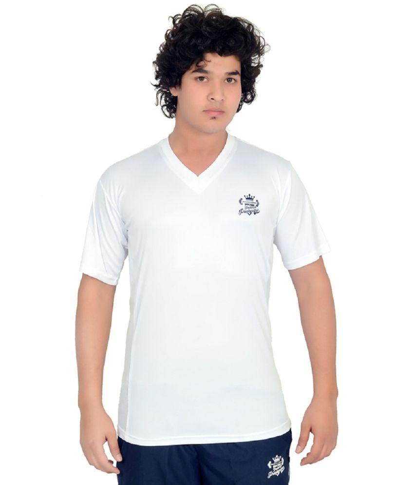 Shredded Prophysique White V-neck T-shirt