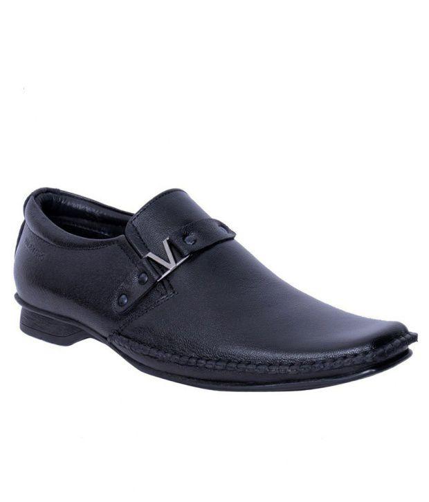 Valentino Black Formal Shoes Price in