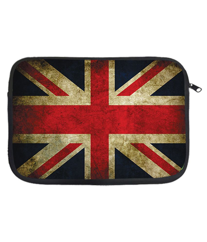 Via Flowers English Flag Laptop Sleeve - Multicolour
