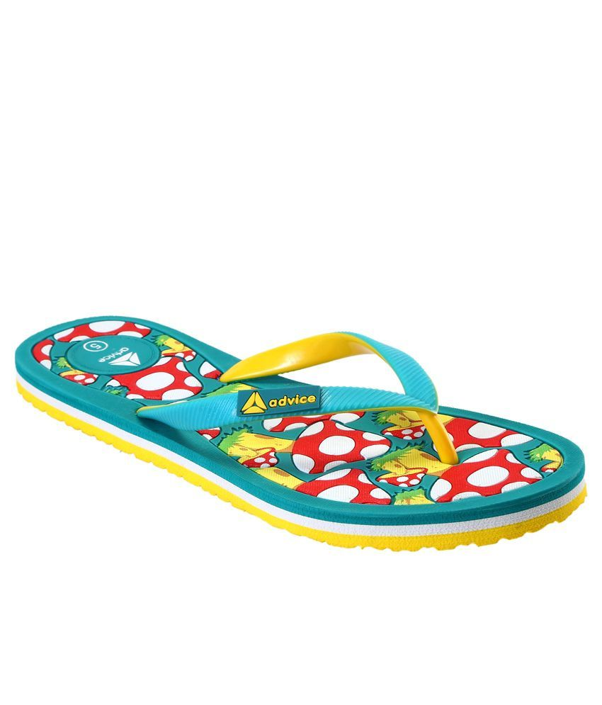 Advice Green Slippers & Flip Flops