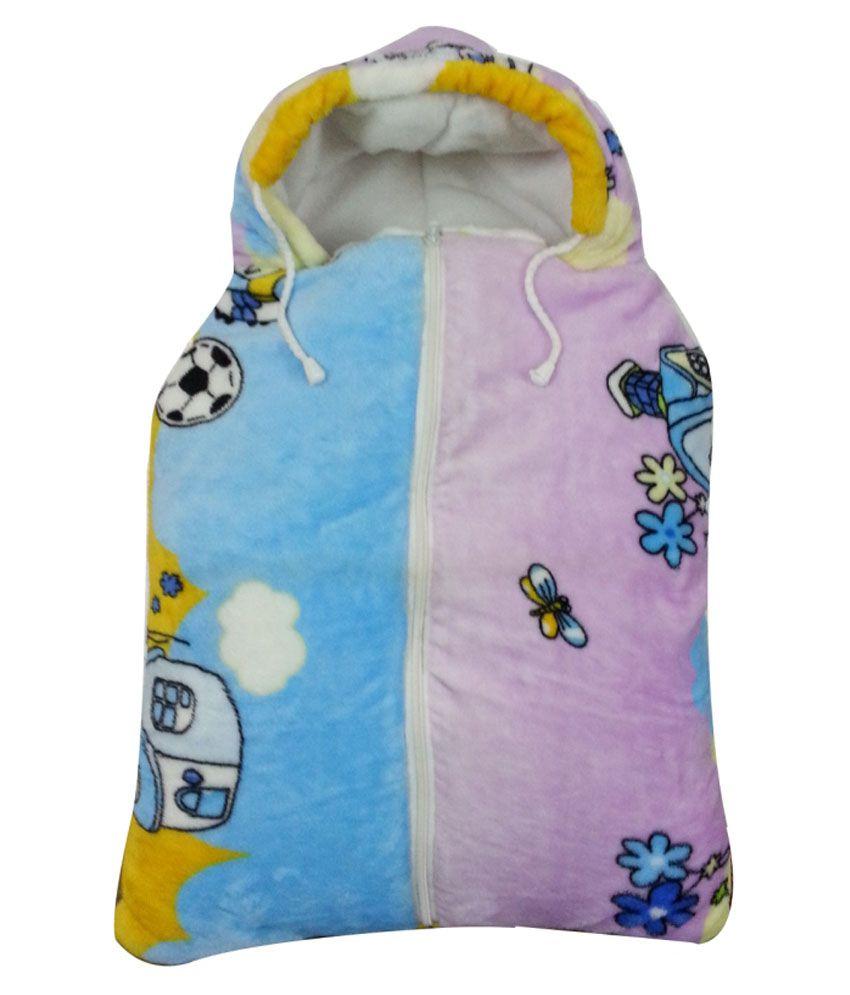 Aaaao Baby Multicolour Mink Baby Sleeping Bag