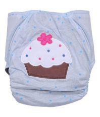Cosy Blue Cotton Diaper Cover