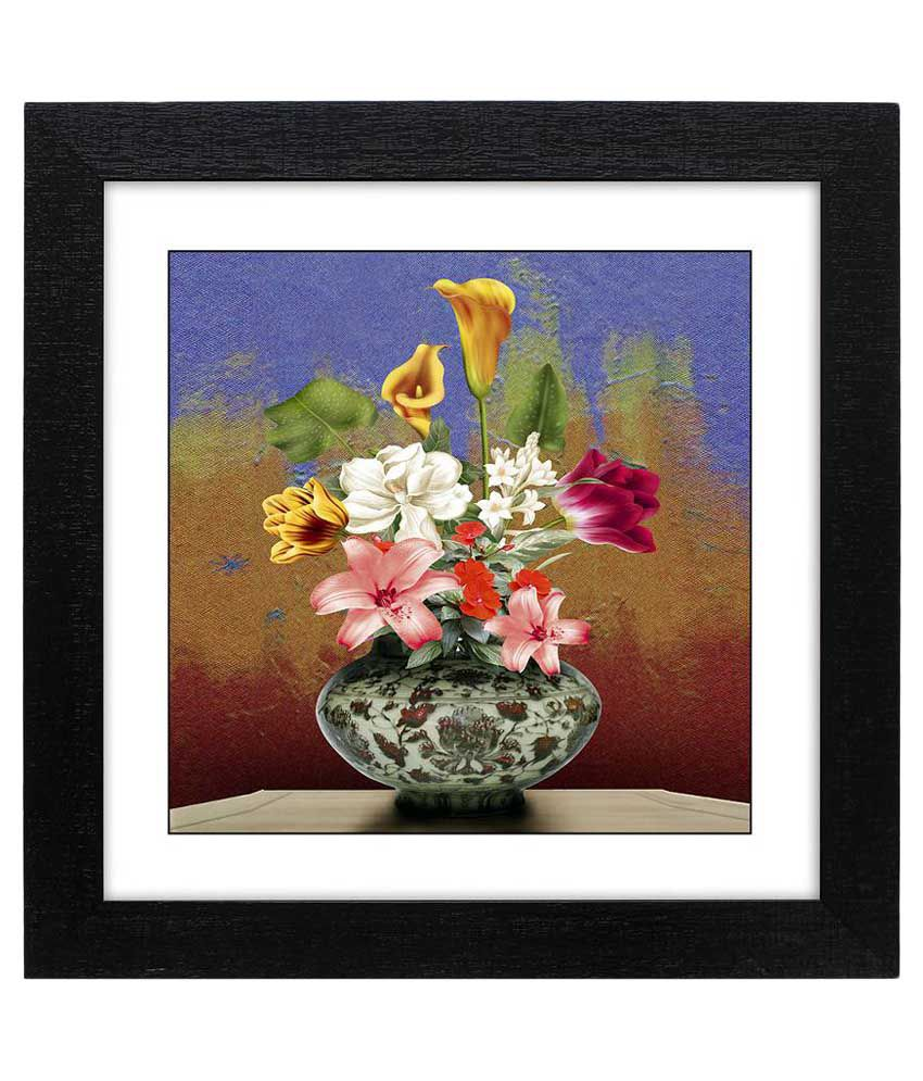 Delight Multicolour Painting with Frame