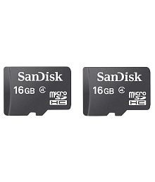 SanDisk 16 GB 15 MB/s Class 4 Memory Card Includes YouTube Go App And 4 Hours Of Preloaded Video Content (Combo Of 2)