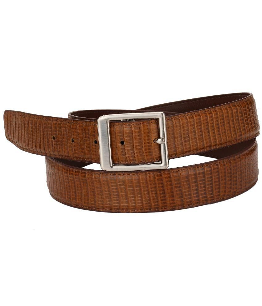 RKE Brown Leather Belt for Men