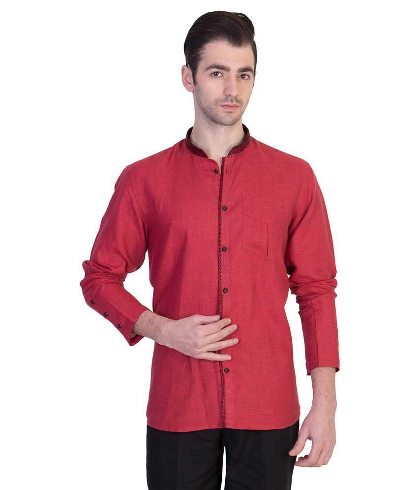 Desam Red Casual Shirt