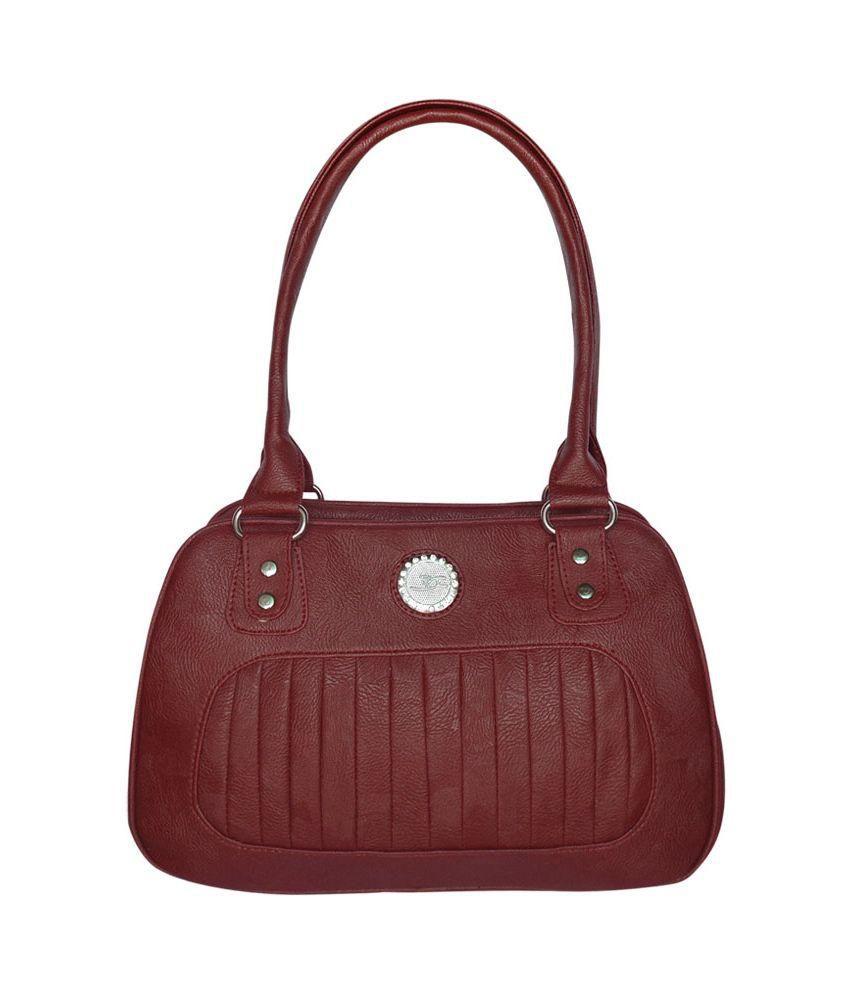 BUEVA Maroon P.U. Shoulder Bag