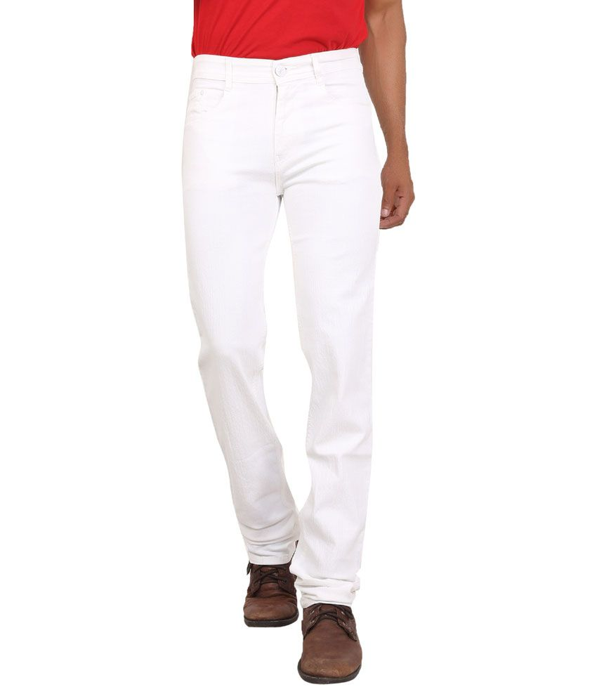 Wood White Slim Fit Jeans