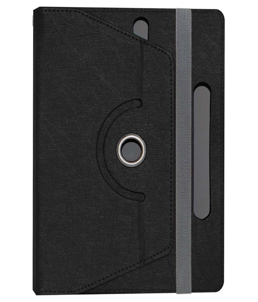 Acm Rotating Tablet Cover For Karbonn Ta-Fone A37 - Black