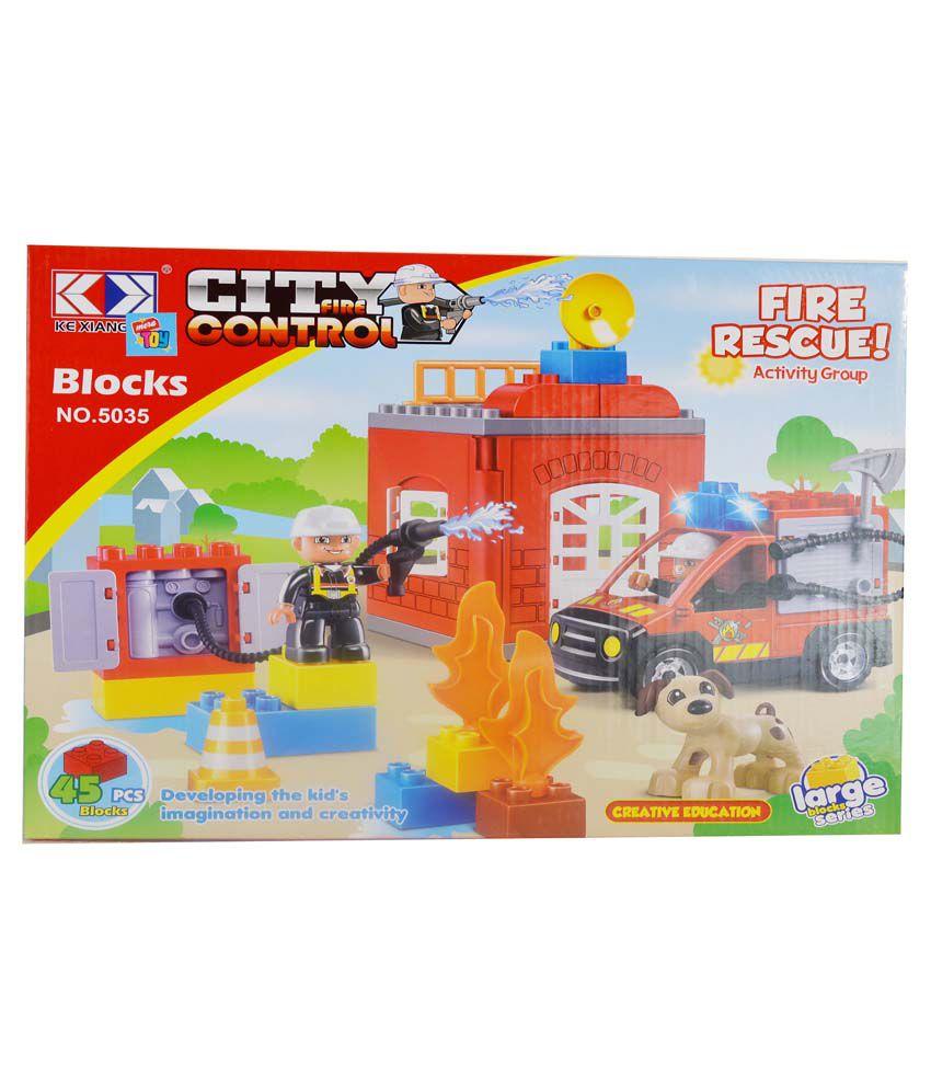 Mera Toy Shop Multicolour Fire Rescue Set Of 45