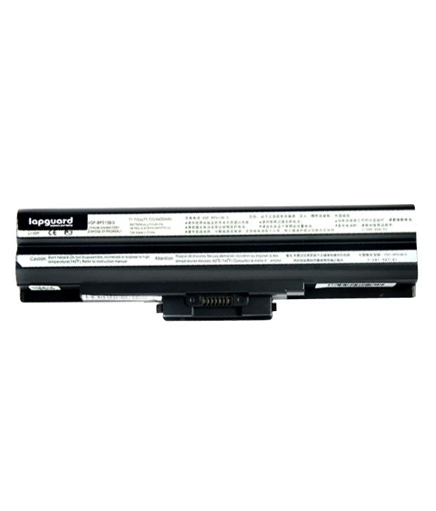 Lapguard 4400mAh Lithium-ion Laptop Battery For Sony VGN-BZ11VN - Black