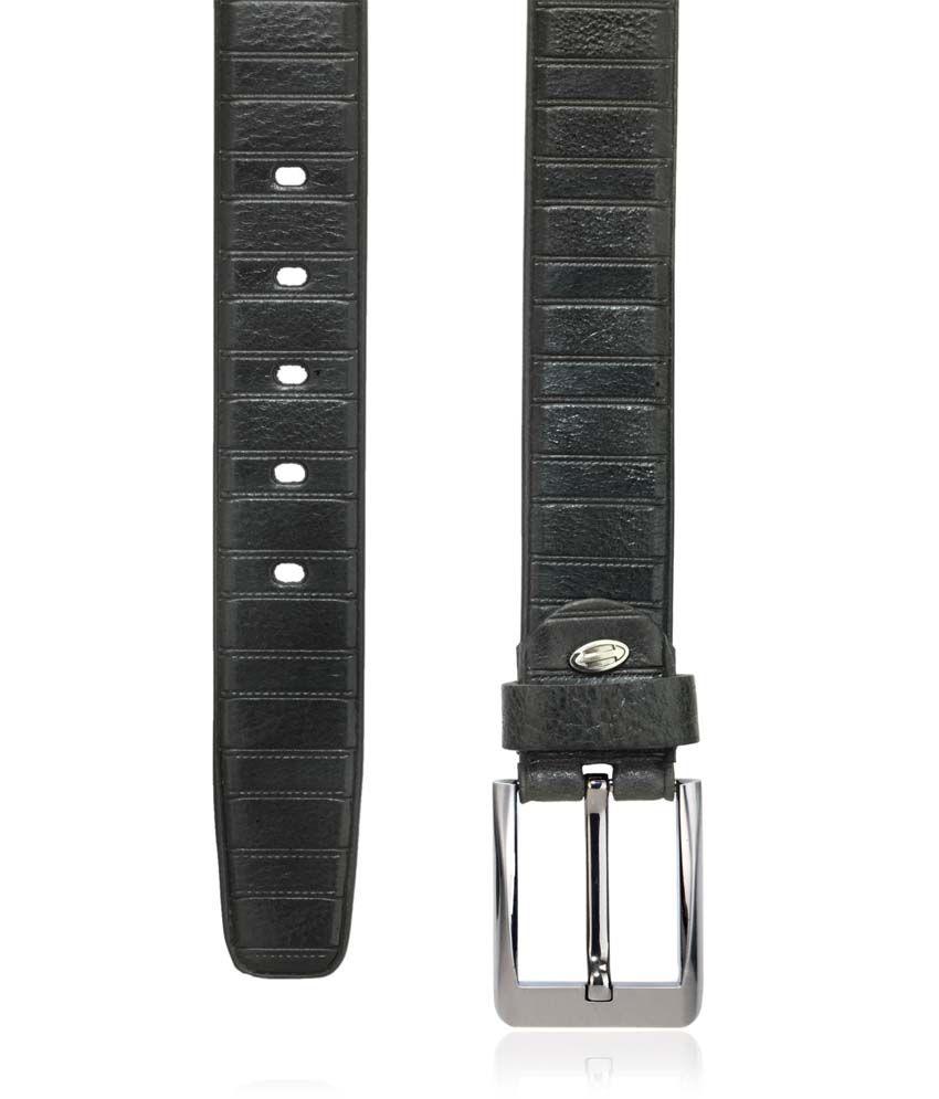 Teakwood Combo of Wallet and Black Leather Belt
