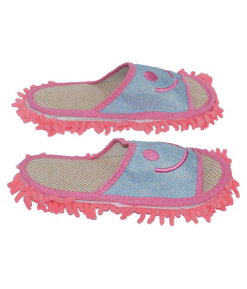 Muren Blue Slippers & Flip Flops