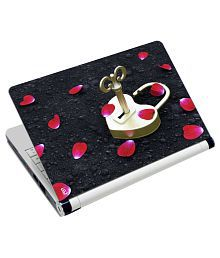 Print Shapes Love Lock Laptop Skin