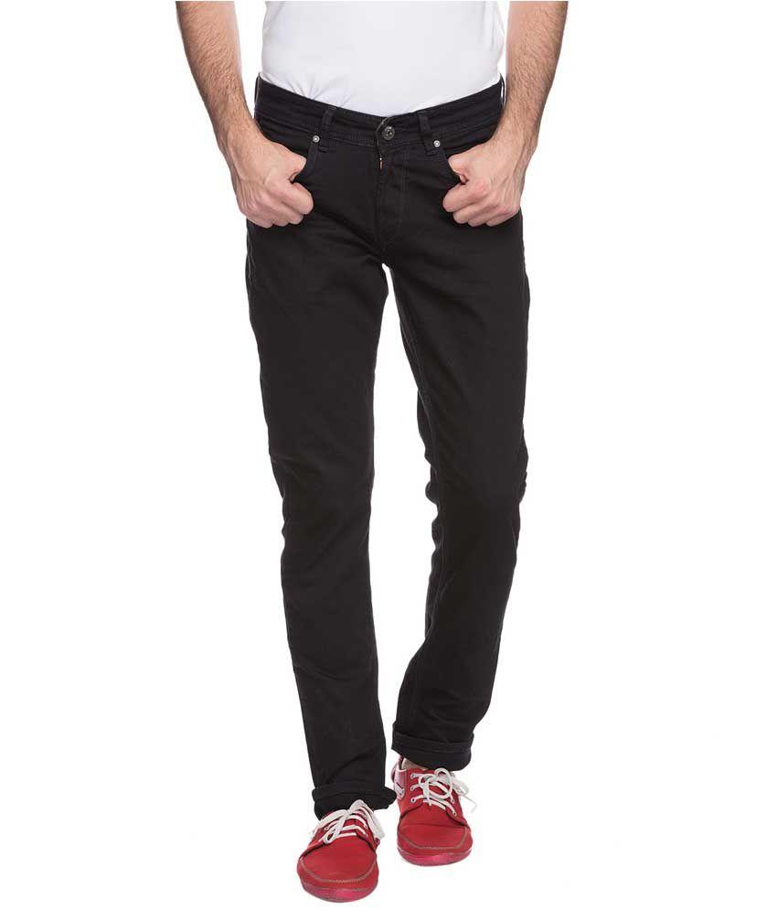 Spykar Black Skinny Fit Jeans Single