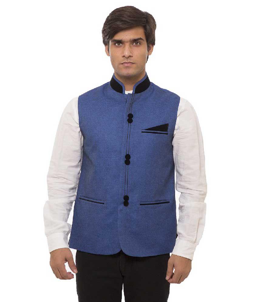 Nasir Blue Casual Blazers Single