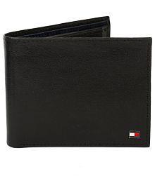 Tommy Hilfiger Formal Black Bi-Fold Leather Wallet for Men