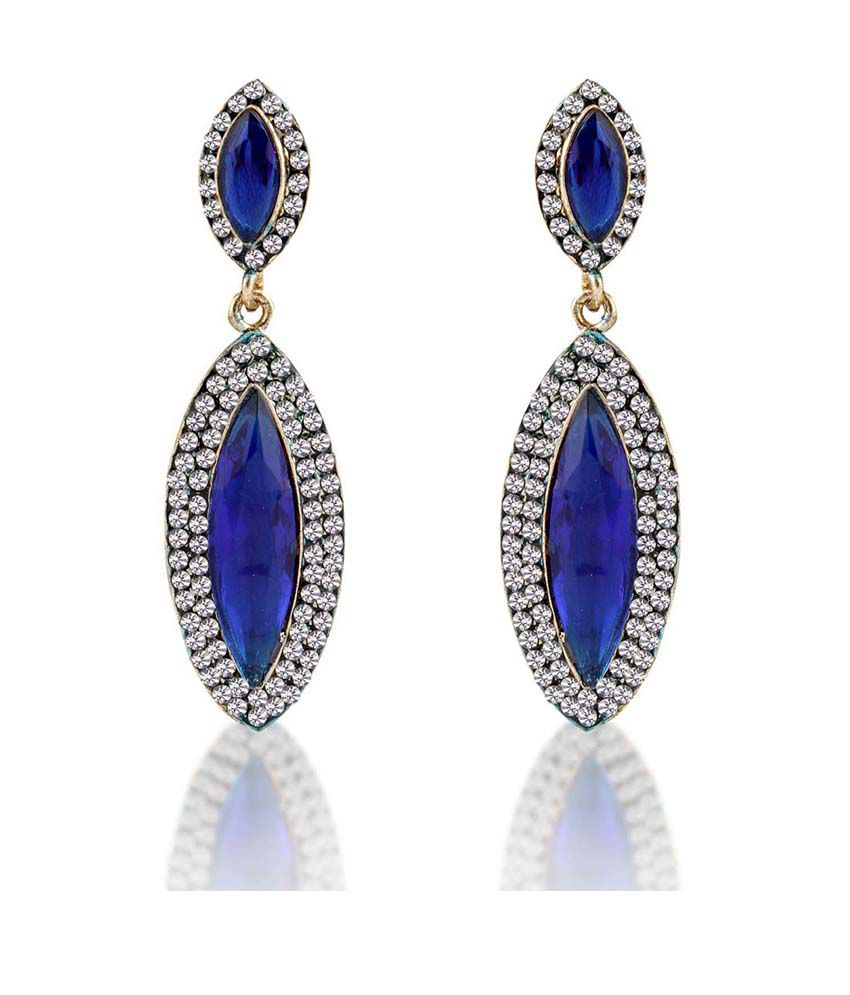 Sukkhi Blue Alloy Earrings