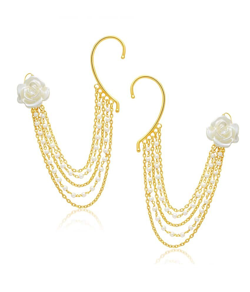 Sukkhi Golden Alloy Earrings