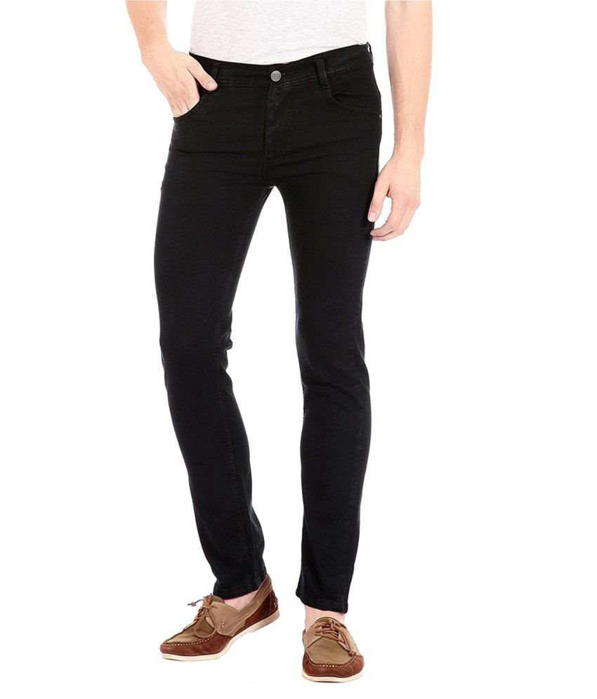 FlyJohn Black Slim Fit Jeans No