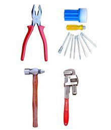 Taparia Tool Kit-Set Of Plier & Venus Screw Driver Kit & Celly Hammer 300 Gram & Venus Pipe Wrench 14 Inch