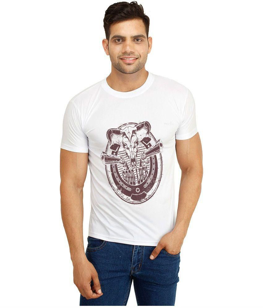 Dealnearn White Polyester T-Shirt