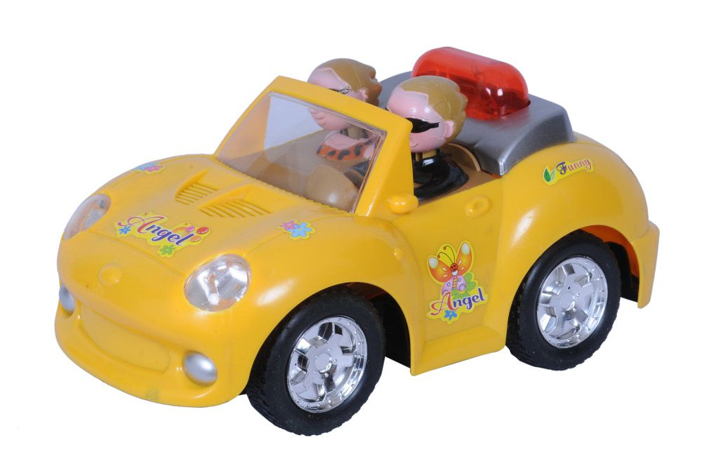 Happy Kids Happy Kids Yellow PVC Car with Lights and Music