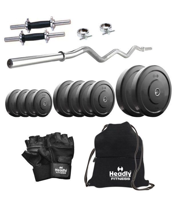 Headly kg home gym inch dumbbells curl rod