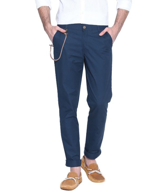 Hubberholme Blue Regular Fit Chinos