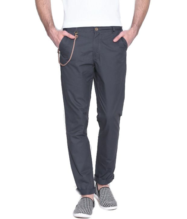 Hubberholme Grey Regular Fit Chinos