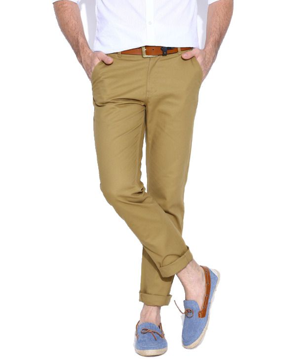 Hubberholme Khaki Regular Fit Chinos