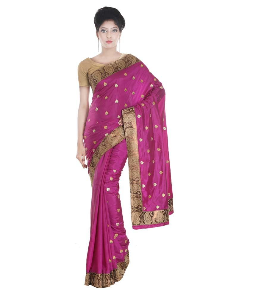 SSPK Purple Raw Silk Saree