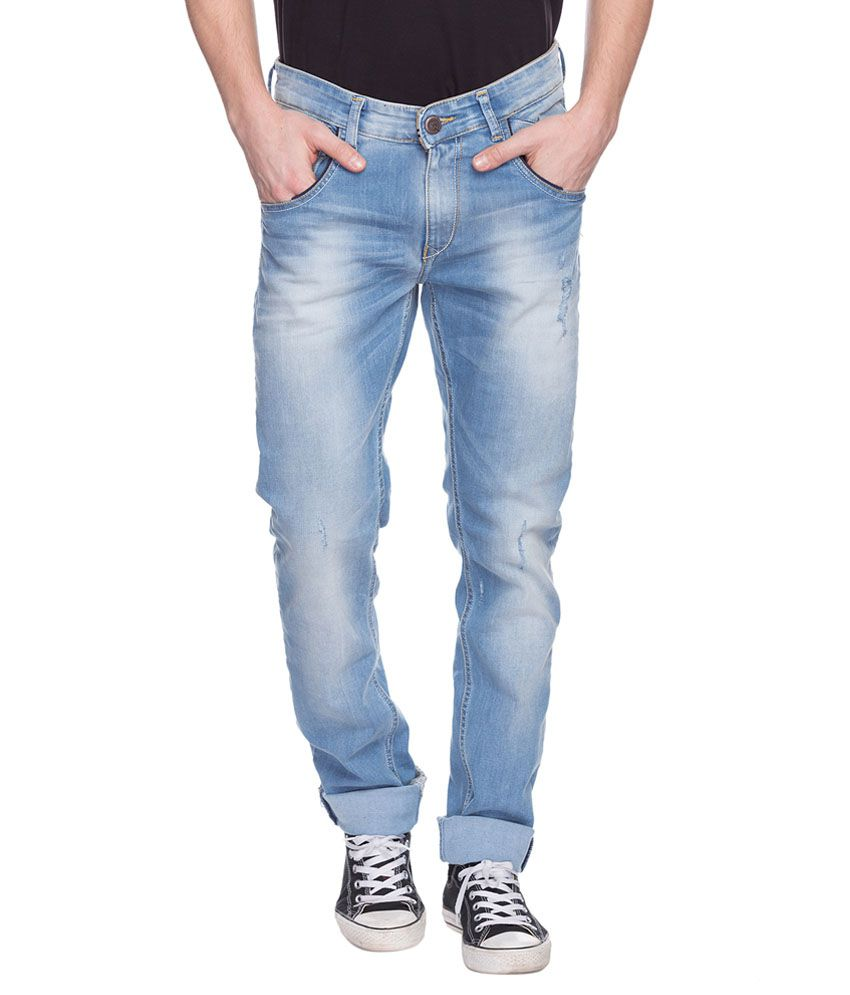 Spykar Blue Regular Fit Jeans