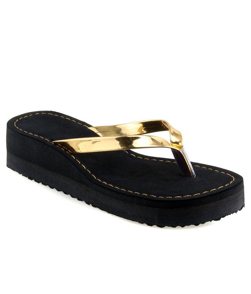 Shoe Lab Gold Slippers & Flip Flops