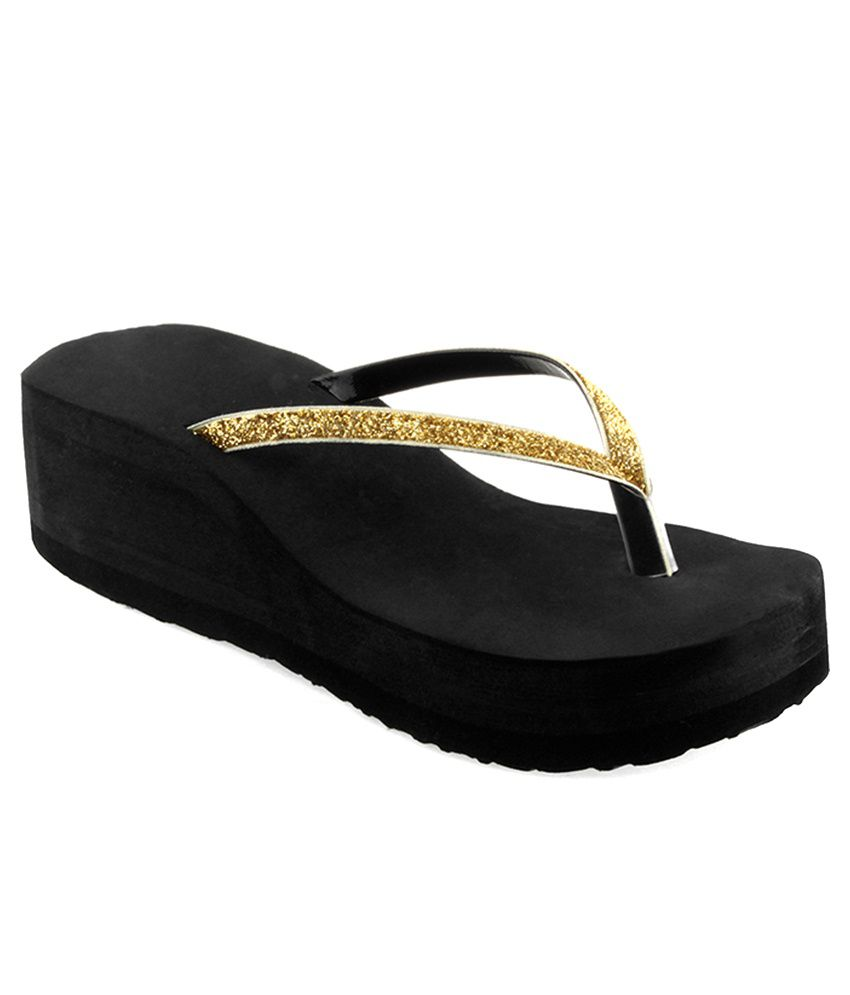 Shoe Lab Gold Slippers & Flip Flops