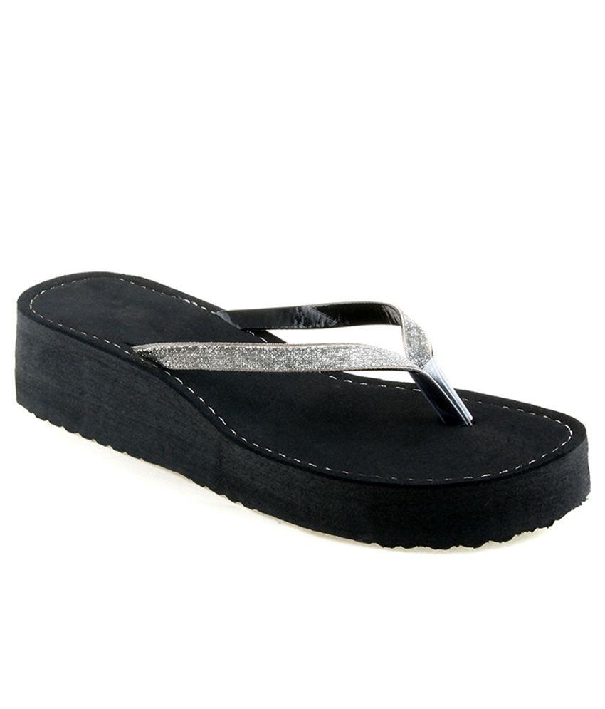 Shoe Lab Silver Slippers & Flip Flops